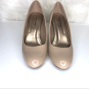 comfort plus by Predictions Shoes - COMFORT PLUS   Rounded toe patent leather pump